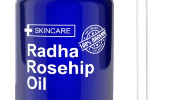 Radha Beauty Rosehip Oil - 100% Pure Cold Pressed Certified Organic 4 fl. oz.
